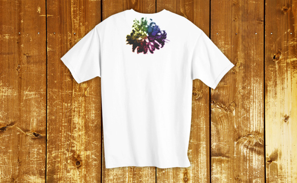 後ろ襟にプリントしたTシャツを作成する