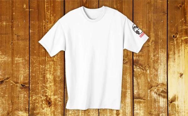袖にワンポイント印刷したTシャツを作成する
