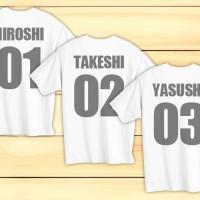 個別の名前と番号を印刷したユニフォーム風クラスTシャツの作り方